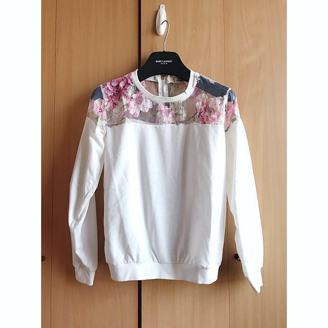 75d769d54f3a8 Brand design floral little sexy white top zara asos mango club ...