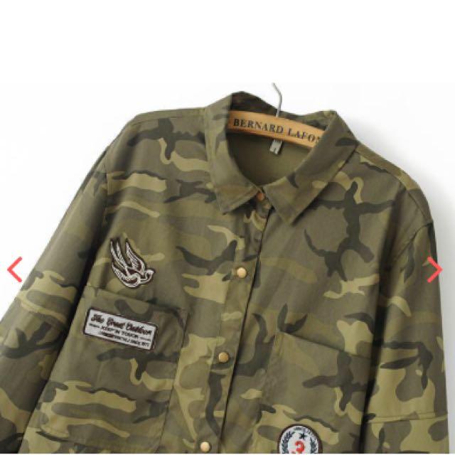 Camoflauge Streetwear Cardigan Jacket