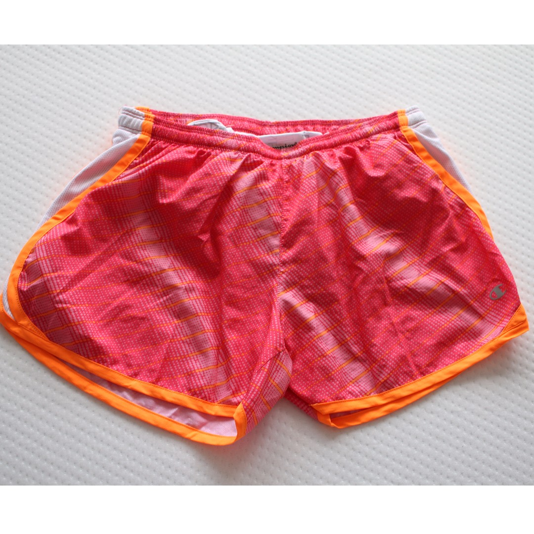 Champion shorts small fit and Nike Dri-fit active wear shorts medium fit.