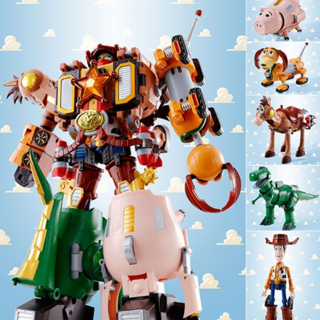 <<OFFER>> CHOGOKIN TOY STORY COMBINATION WOODY ROBO SHERIFF STAR