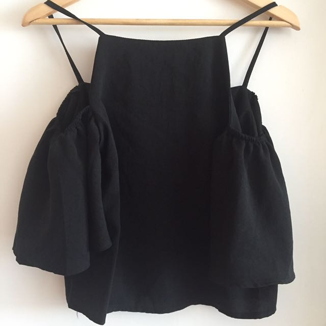 Cold shoulder black Blouse