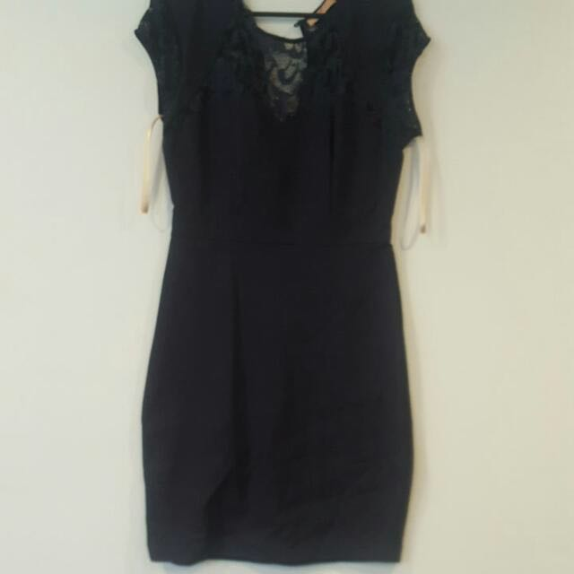 Cooper Street Navy And Lace Dress