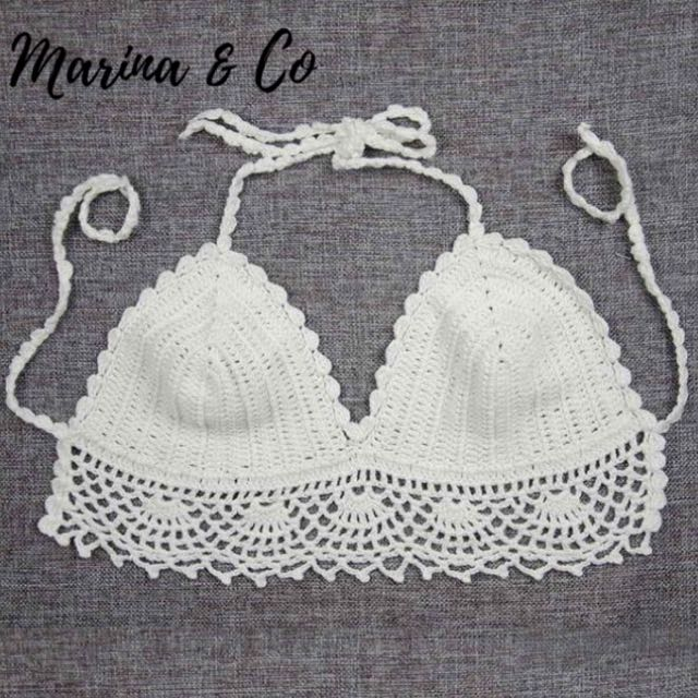 Crochet Bralette Top Womens Fashion Clothes Tops On Carousell