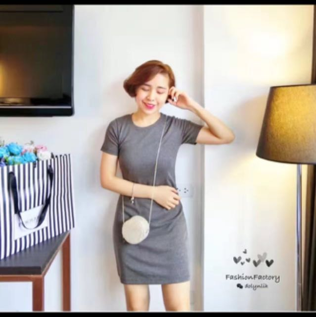 Dark grey casual dress