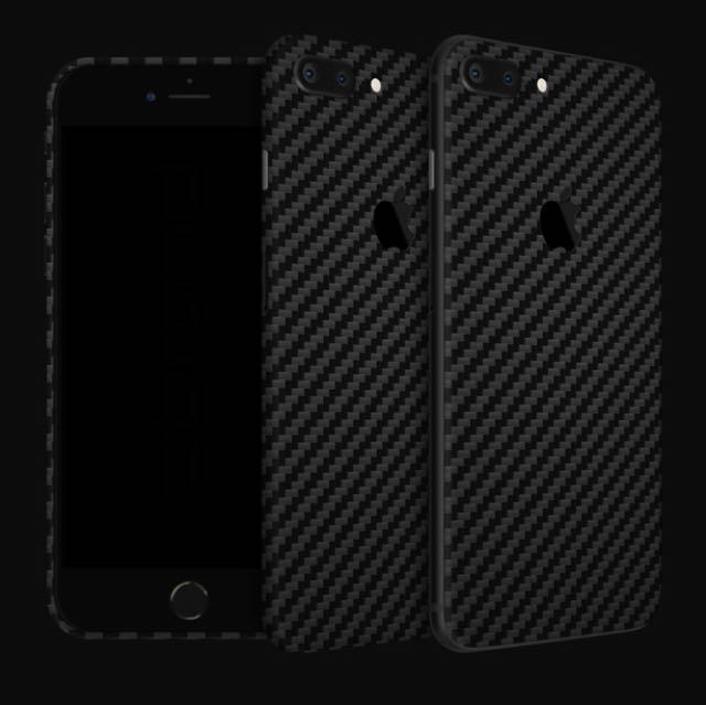 buy online 53766 cf02a dbrand Black Carbon Fiber for iPhone 8 Plus