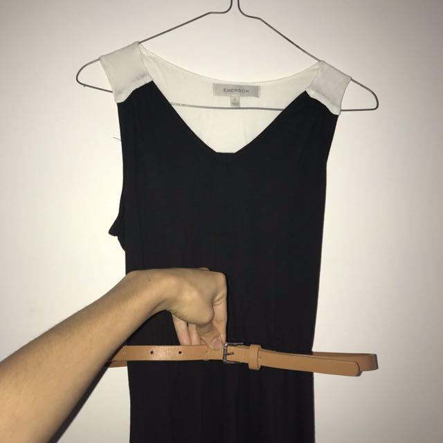 Dress with belt