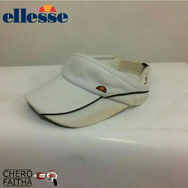 Ellesse beach golf tennis sport sun visor hat cap without top topi ... 2165e716bf