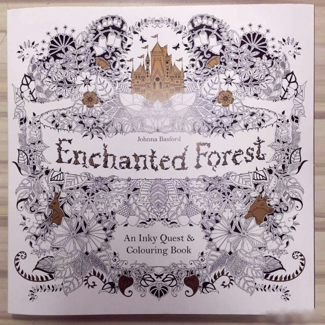 Enchanted Forest An Inky Quest Coloring Book Books Magazines