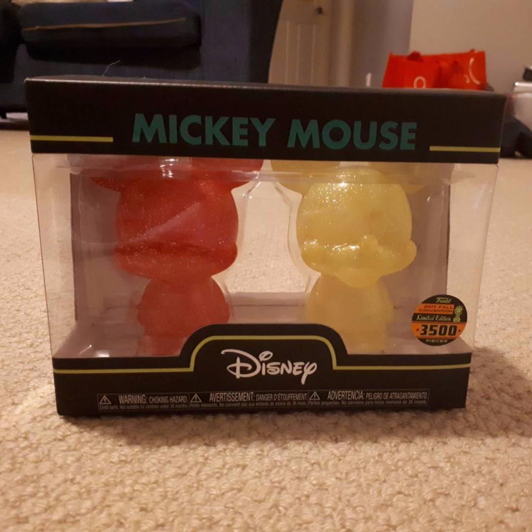 Funko Disney Mickey Mouse Red & Yellow Mini Hikari Vinyl Figure 2-Pack