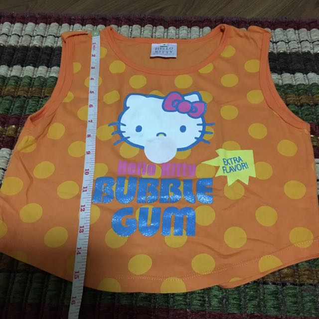 Hello kitty orange sleeveless shirt size 8