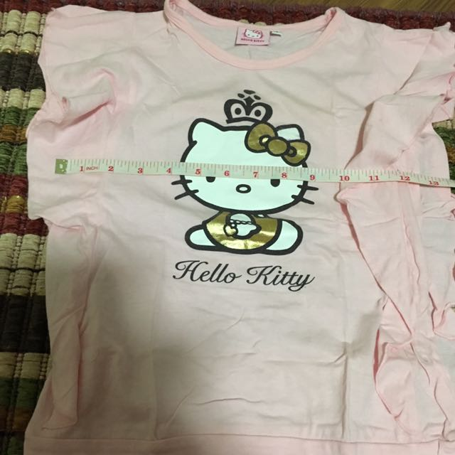 Hello kitty pink shirt blouse size 10