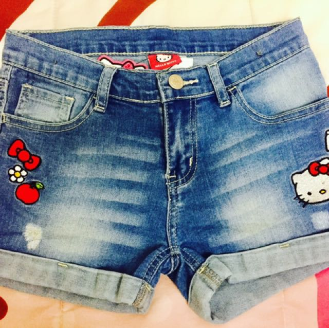 14321483a HELLOKITTY AUTHENTIC DENIM SHORT, Women's Fashion, Clothes on Carousell