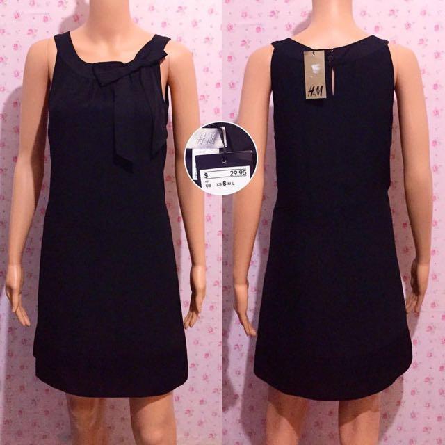 H&M Black Dress w/ Bow + FREE 2-PC Swimsuit !!