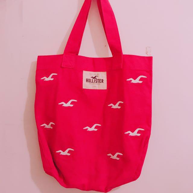 全新✨Hollister tote bag 粉色肩背包