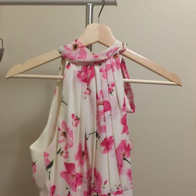 HONEY flower halter dress