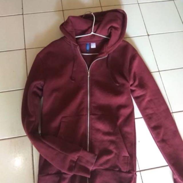 hoodie hnm maroon