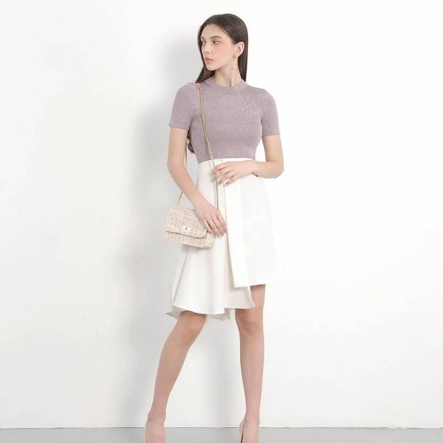 HVV Shimmer Knit Top in Lavender