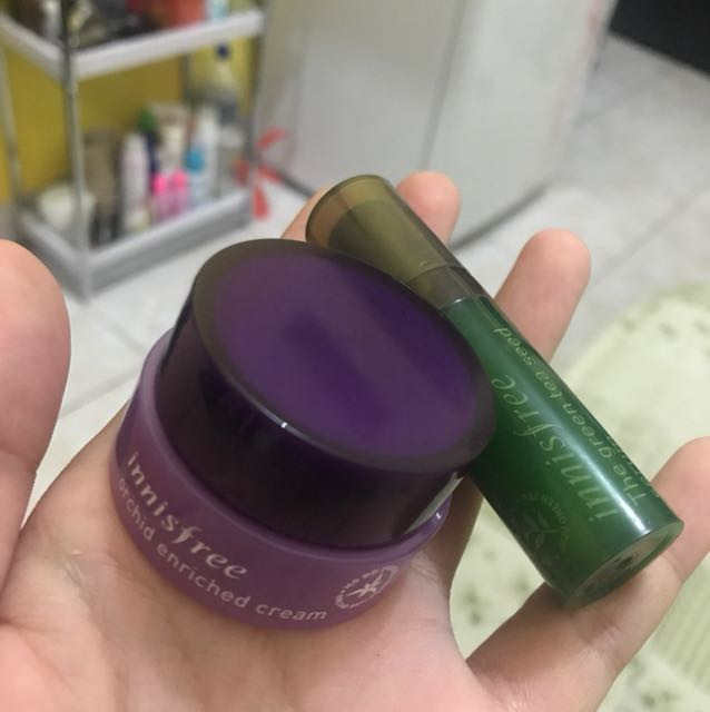 Innisfree orchid enriched cream & innisfree the green tea seed