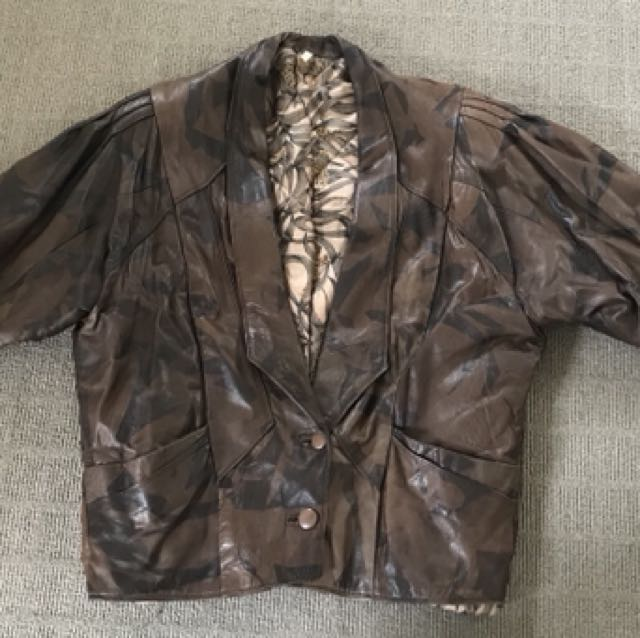 Italian brown leather jacket