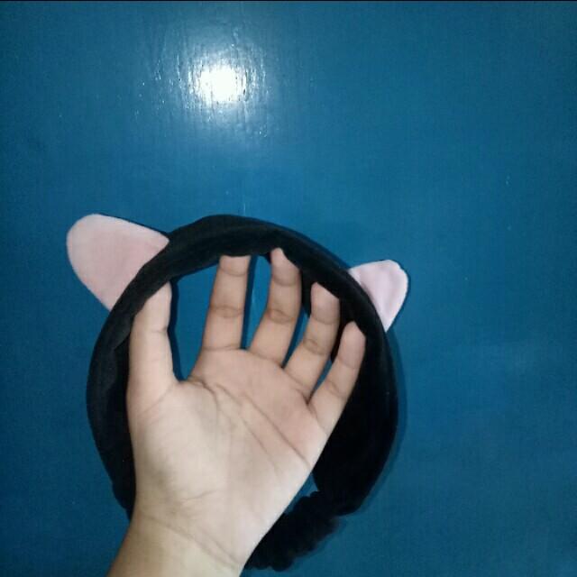 Kitty Headband Hairband Bando Kuping Hitam