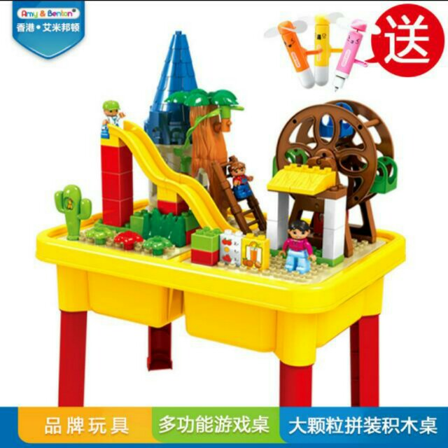 Lego Duplo Compatible Table, Babies & Kids, Toys on Carousell