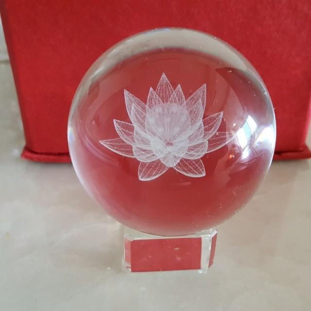 Lotus flower crystal ball