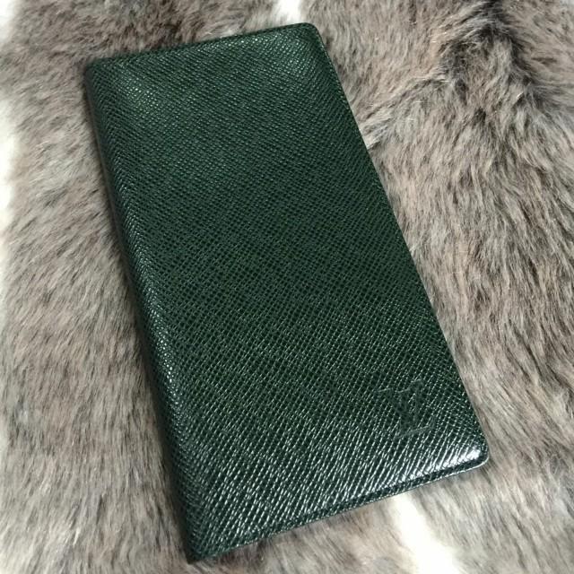 Louis Vuitton Long Wallet In Dark Green Taiga