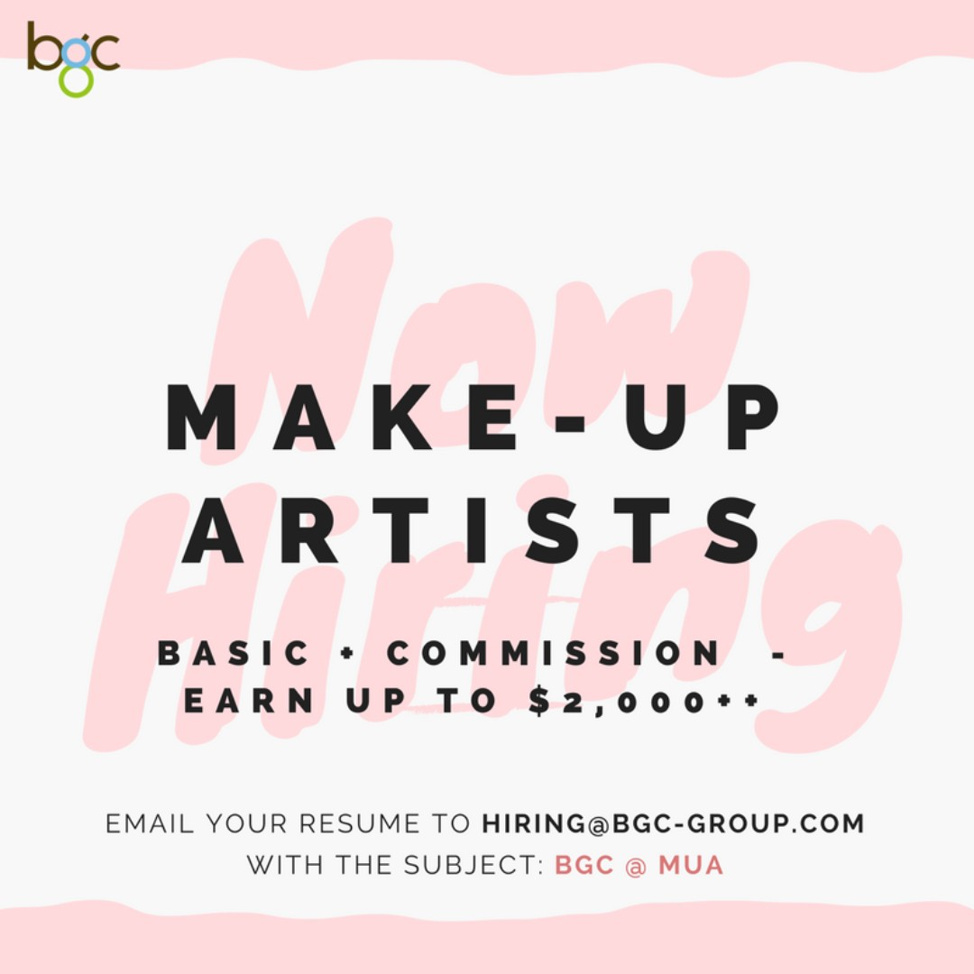 Make-up Artists (Up to $2,000)