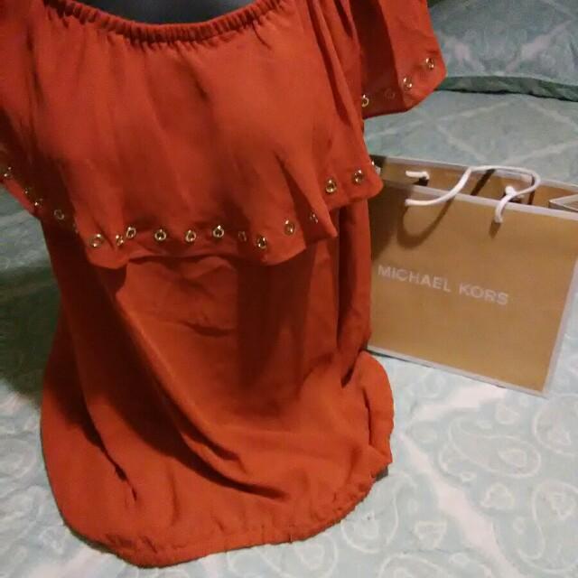 Michael kors orange blouse