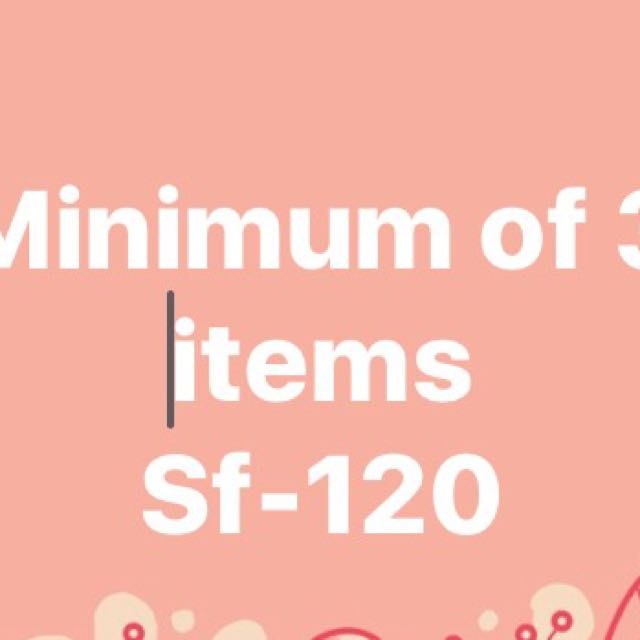 Minimum of 3 items