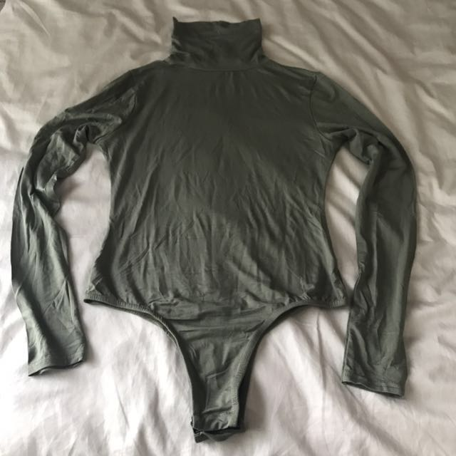 Misguided Khaki Bodysuit