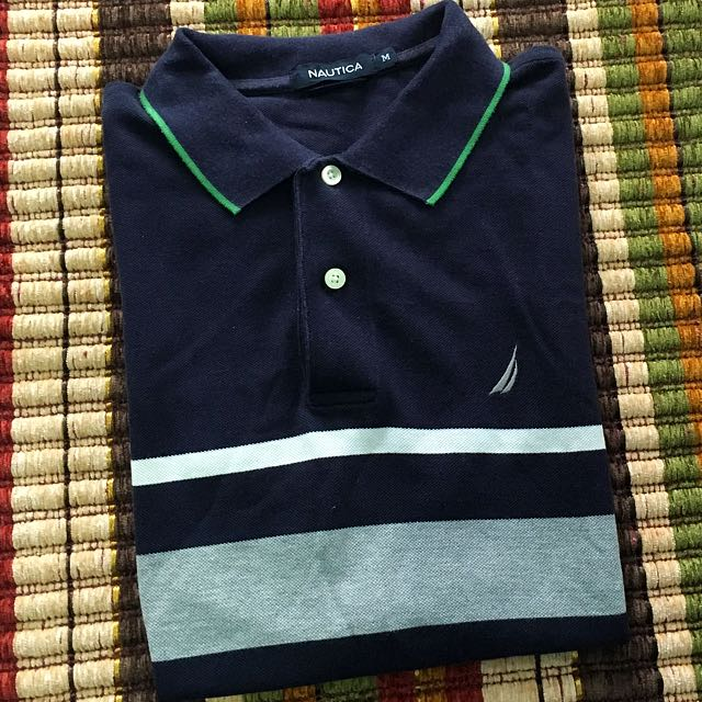 Nautica shirt w collat medium
