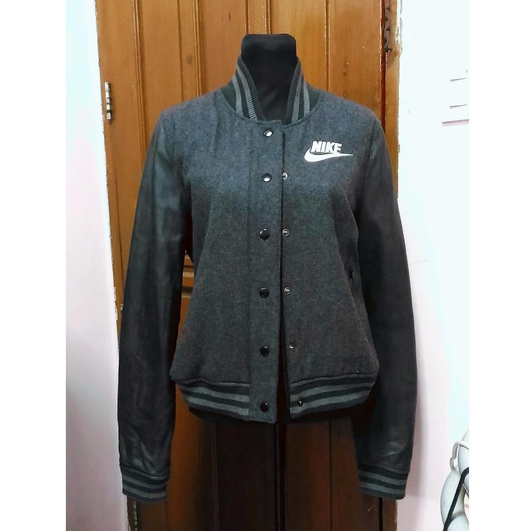 NIKE Leather Bomber Jacket