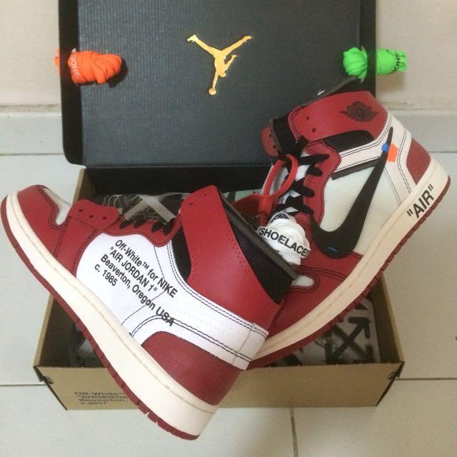 sports shoes a1514 5346f Off White Nike Air Jordan 1