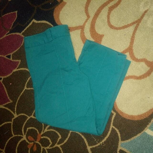 OOTD Ann Taylor Turquoise Pants