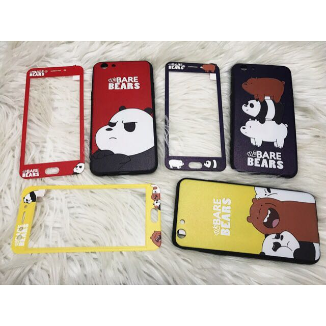 uk availability ba8e6 25fbd OPPO CASE WE BARE BEARS WITH TEMPERED on Carousell