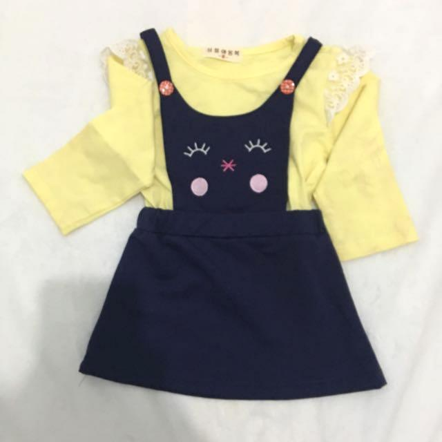 OverAll dress Yellow