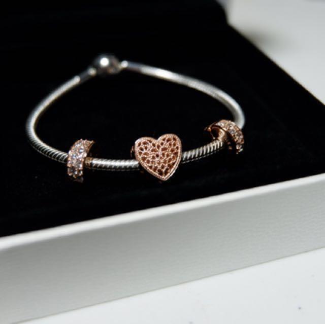 Pandora Charm Bracelet and Bracelet Cleaner Kit