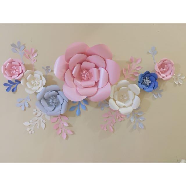 Paper Flower Bunga Kertas Dekorasi Lamaran