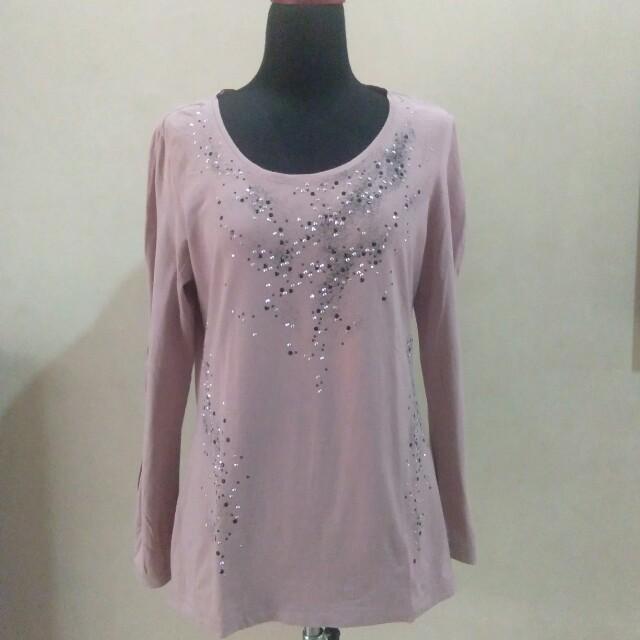 Pink studded t-shirt