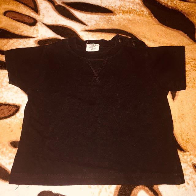 Plain Black shirt 6-12mos