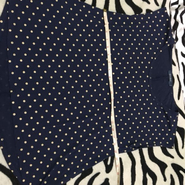 Polka Dots Navy Blue Blouse