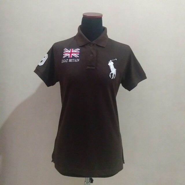 Polo shirt woman brown