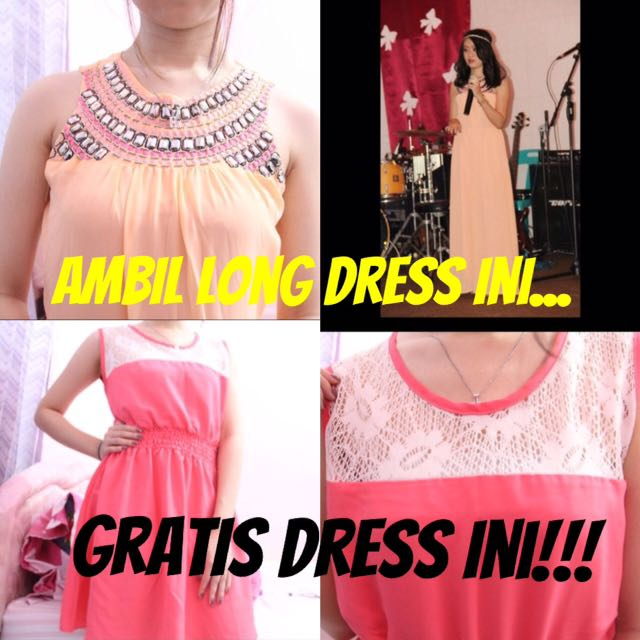 Promo 1 ( Beli Longdress Dapat Dress Gratis )