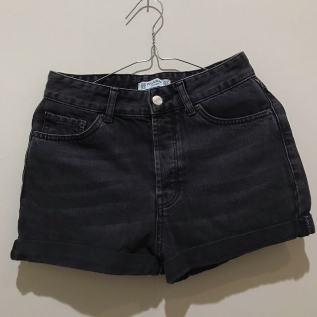 Pull n Bear - Black Shorts