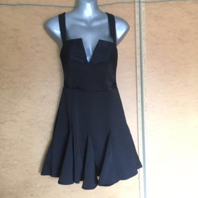 Rise of Dawn Black Skater Dress