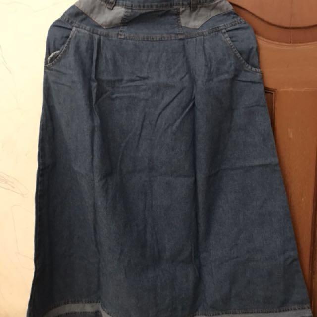 Rok panjang jeans anak