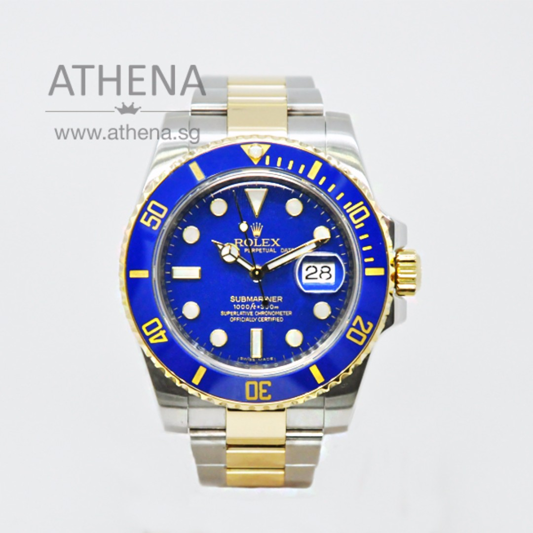 Rolex Oyster Perpetual Gold And Blue