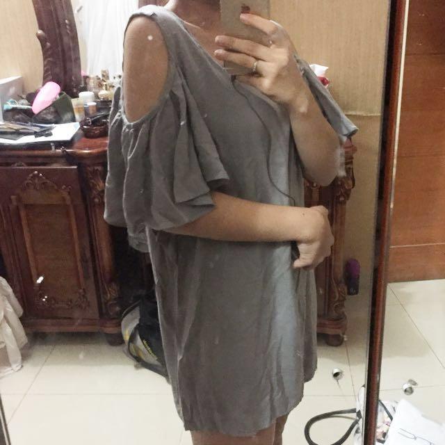 Sabrina Dress : Grey