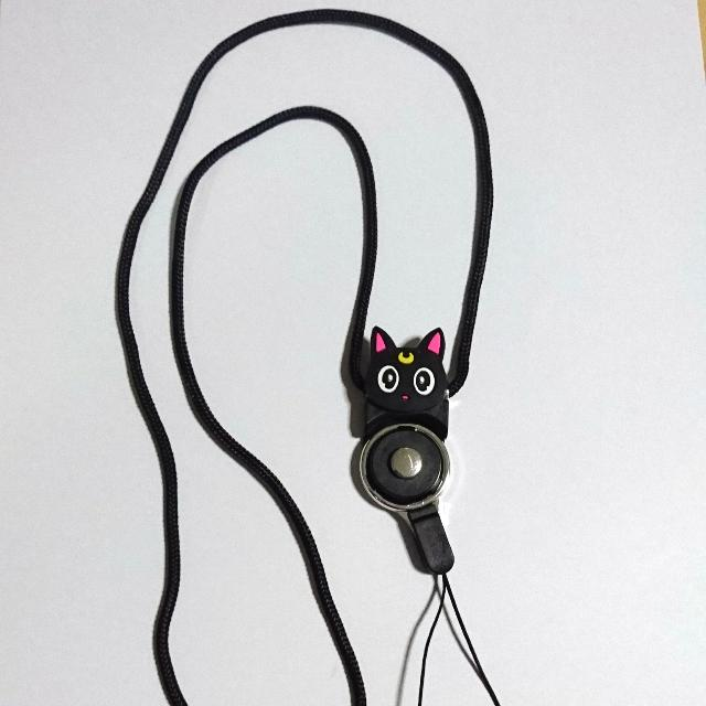 Sailor Moon Luna Cat Lanyard